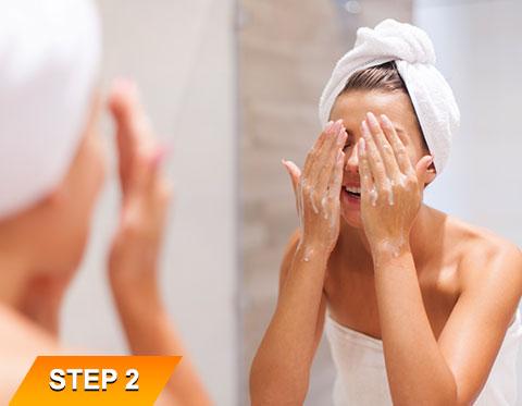 Goodbye-Wrinkle-Face-Wash-Step-2